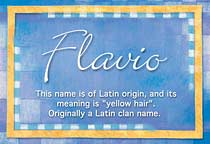 Name Flavio