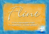 Name Flint