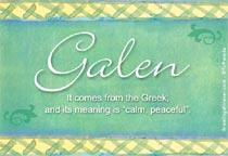 Name Galen