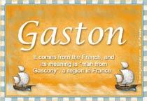 Name Gaston
