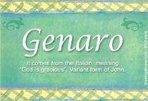 Name Genaro