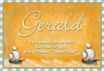 Name Gerald
