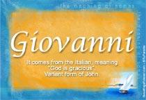 Name Giovanni