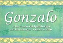 Name Gonzalo