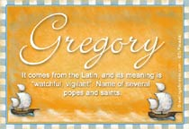 Name Gregory