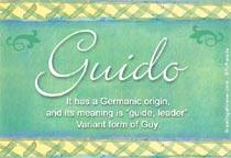 Name Guido