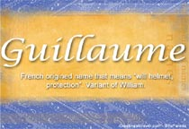 Name Guillaume