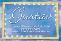 Name Gustav