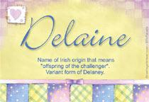 Name Delaine