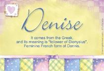 Name Denise