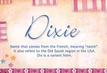 Name Dixie