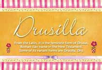 Name Drusilla