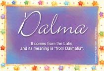 Name Dalma