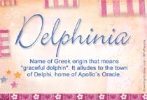 Name Delphinia