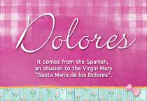Name Dolores