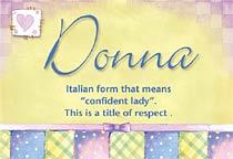 Name Donna