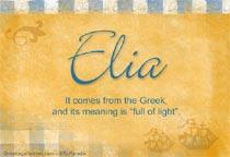 Name Elia