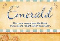Name Emerald