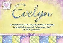 Name Evelyn