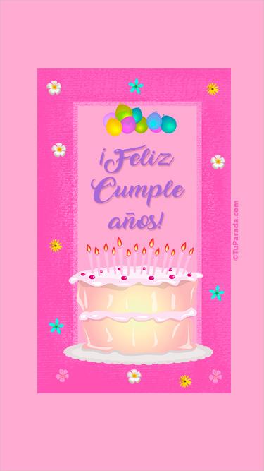 Cumpleaños con torta