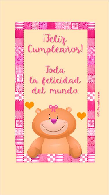 Feliz cumpleaños en rosa