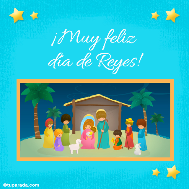 Tarjeta - Feliz día de Reyes