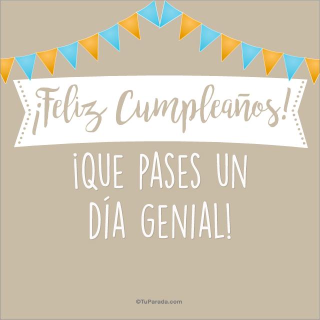 Feliz cumpleaños y un día genial