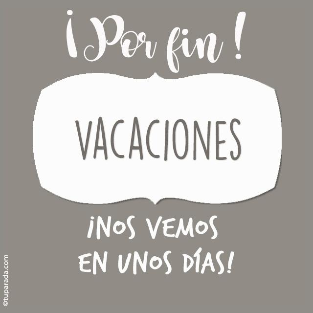 Tarjeta - Vacaciones