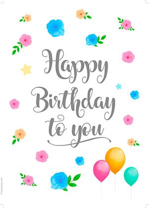 Diseño Happy Birthday to you