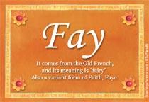 Name Fay