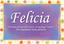 Name Felicia