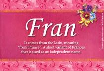 Name Fran