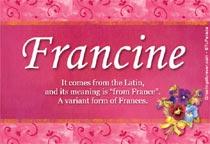 Name Francine