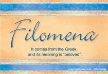 Name Filomena