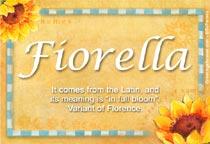 Name Fiorella