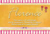 Name Florence