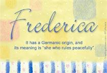 Name Frederica
