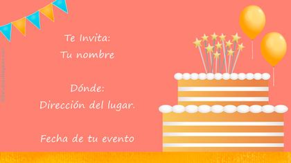 Invitación con torta.