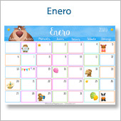 Calendario multicolor - Enero 2020