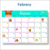 Calendario multicolor - Febrero 2020
