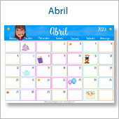 Calendario multicolor - Abril 2020