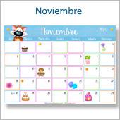 Calendario multicolor - Noviembre 2020