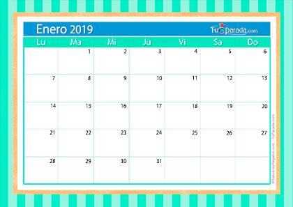 Calendario Deco - Enero 2019
