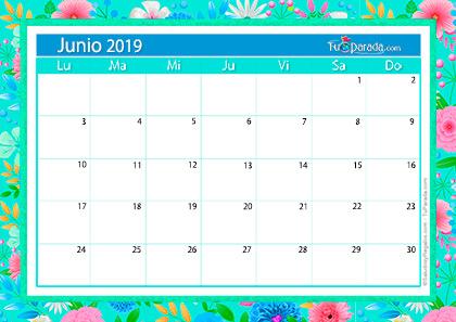 Calendario Deco - Junio 2019