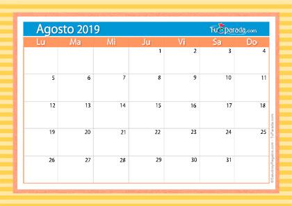 Calendario Deco - Agosto 2019