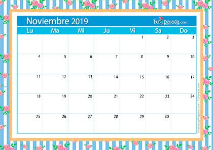 Calendario Deco - Noviembre 2019