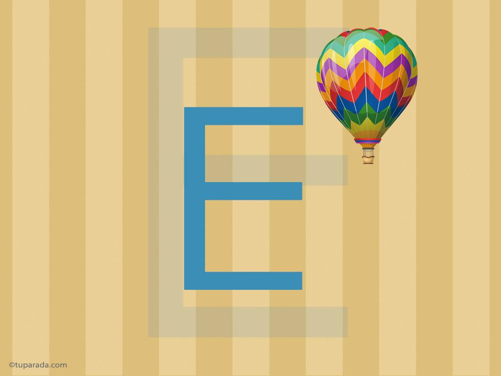 Tarjeta - Inicial E - Deco