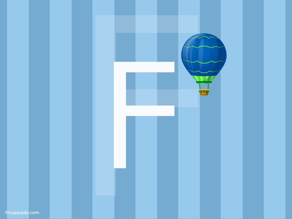 Tarjeta - Inicial F - Deco