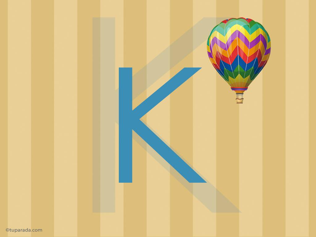 Tarjeta - Inicial K - Deco