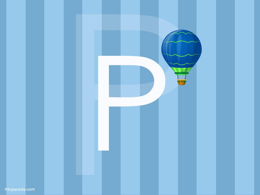 Tarjeta - Inicial P - Deco